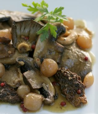 Braised Wild Mushrooms (Manitaria Stifado)