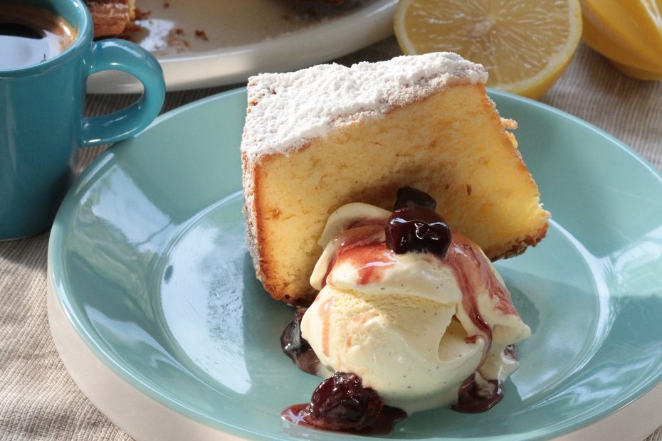 Greek olive oil keeps this Greek yogurt-lemon cake moist.