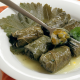 grape leaves stuffed with pumpkim, rice, and herbs