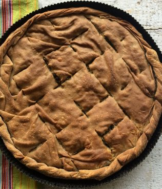 Ikaria Longevity Greens Pie with Whole Wheat Phyllo