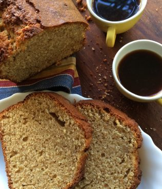 Whole Wheat Lemon Pound Cake with  Greek Yogurt & Olive Oil