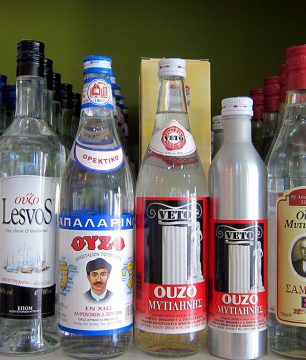 Ouzo-Selection-at-PERI-LESVOU-on-Athinas-Street