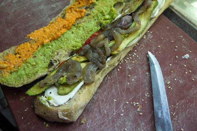 Greek-Mediterranean Diet meets the Sandwich at Guarantee. Photo: Andreas Economakis