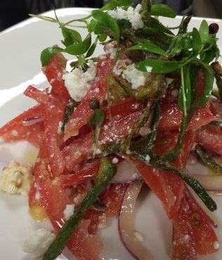 Crispy Okra Greek Salad