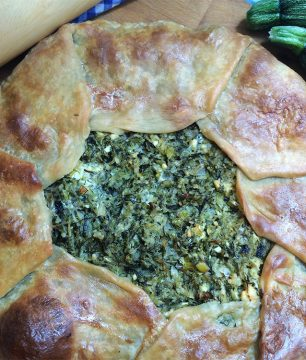 Open Faced Zucchini Herb Phyllo Pie