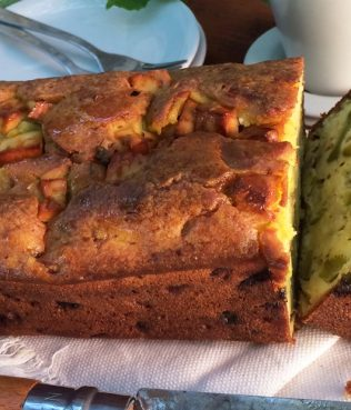 Zucchini-Feta Bread with Fennel, Mint & Turmeric