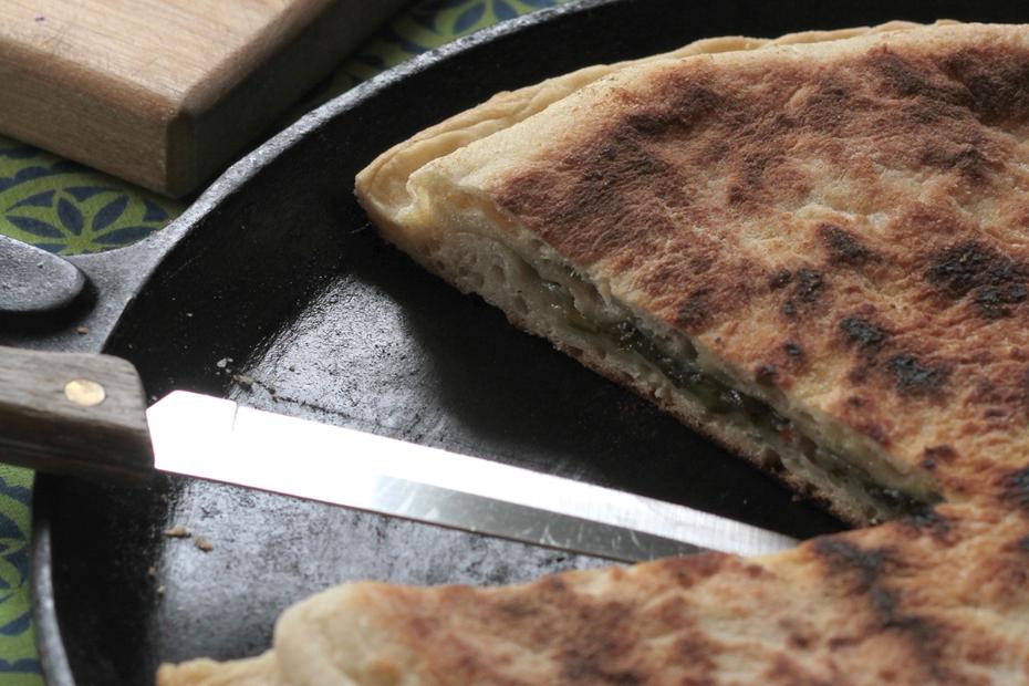 Greens pancakes from Ikaria