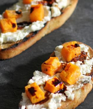 Roasted Pumpkin on Toast with Feta