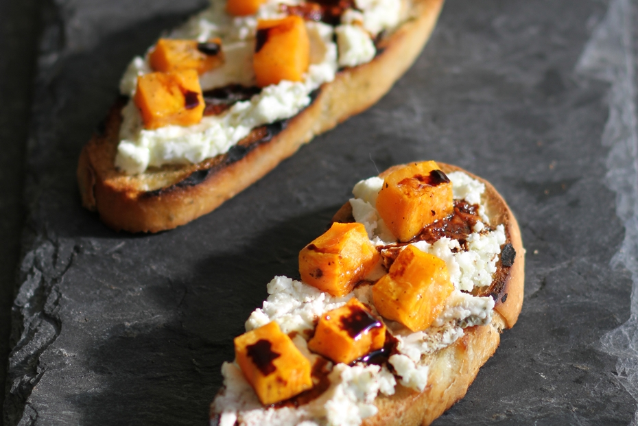 Roasted Pumpkin on Toast with Whipped Feta