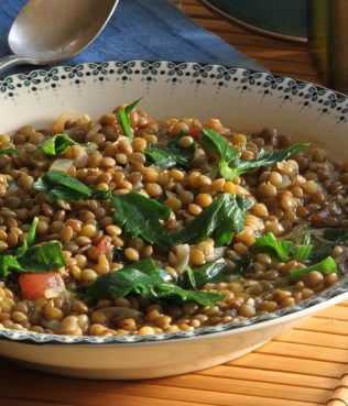 Lentil Soup with Kale and Chile Pepper