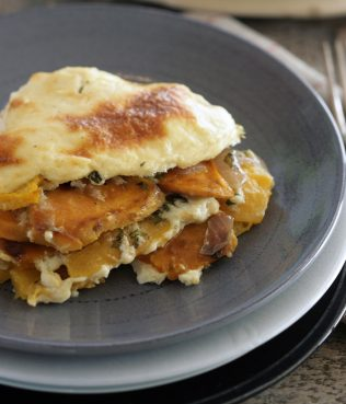 Pumpkin Sweet Potato Moussaka