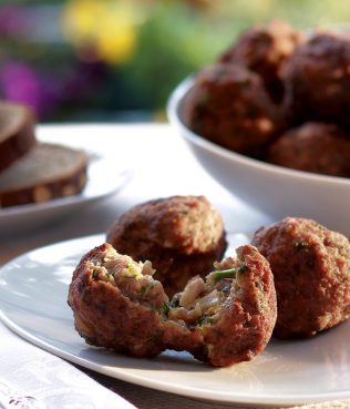 Corfu Style Stuffed Meatballs with a Touch of Curry