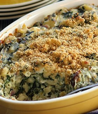 Spanakopita Mac 'n' Cheese with Olive Oil Bechamel