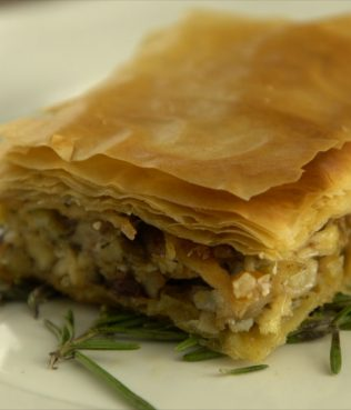 Flaky Chicken Phyllo Pie