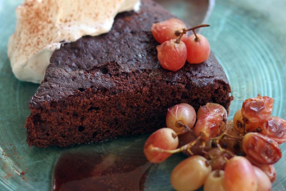Velvety Chocolate Cake with Greek Xinomavro Wine