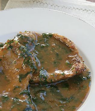Pan-fried Veal with a Tangy Vinegar Sauce from Corfu - Kerkyreiko Sofrito