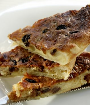 Sweet & Savory Graviera Cheese Tart with Raisins