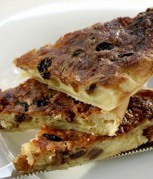Sweet & Savory Graviera Cheese Tart with Raisins
