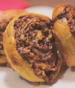 Instant Baklava Puff Pastry Rolls