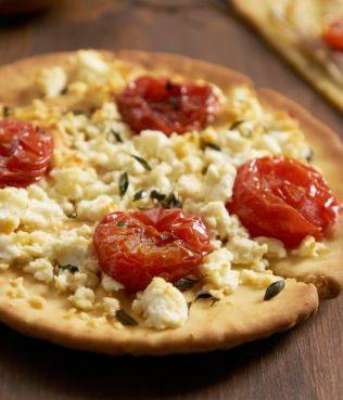 """Greek Pita """"Pizza"""" Muffins"""