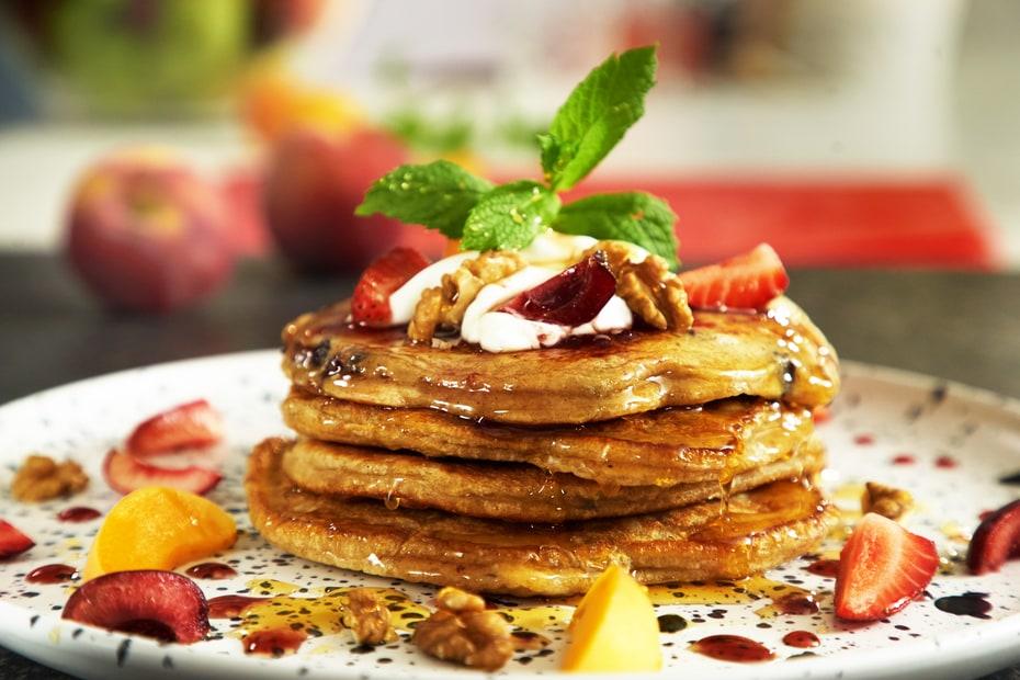 Greek Yogurt Pancakes Greek Food Greek Cooking Greek Recipes By Diane Kochilas