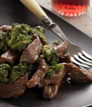 Stir-Fry Beef & Broccoli with Ouzo, Honey & Lemon