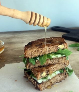 Grilled Cheese with Arugula & Greek Honey