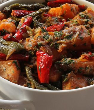 Winter Soufico - Ikarian Pumpkin Stew with Dried Chiles