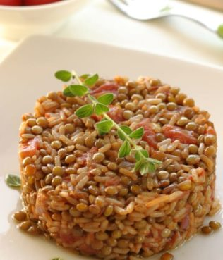 Lentil-Rice Pilaf from the Dodecanese