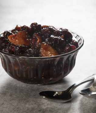 Cranberry-Fig Sauce with Warm Spices and Petimezi