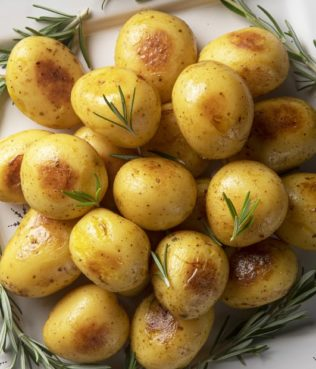 Pan-Roasted Potatoes with Krokos Kozanis and Herbs