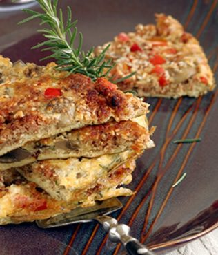 Greek Omelet with Sausages, Mushrooms and Metsovone Cheese