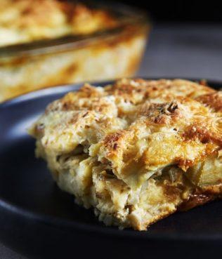 Tinos Artichoke Bread Pudding