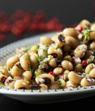 Mavromatika Salata - Black Eyed Pea Salad, Mastiha Vinaigrette