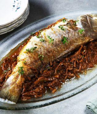 Bourtheto - Garlicky Fish & Leek Stew