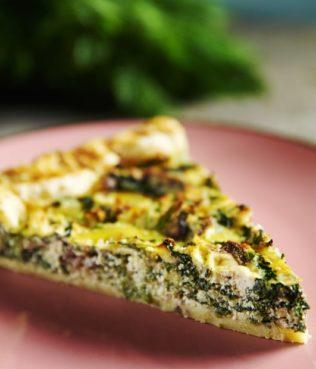 Tarta Spanaki - Spinach & Kalamata Olive Tart