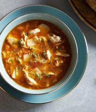 Protoyiahni - Tomato Chicken Noodle Soup