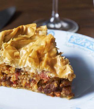 Kefalonitiki Kreatopita - Cephalonia Three-Meat Pie