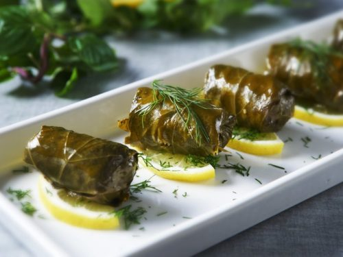 Roditikoi Dolmades Grape Leaves Stuffed With Bulgur Cumin Greek Food Greek Cooking Greek Recipes By Diane Kochilas