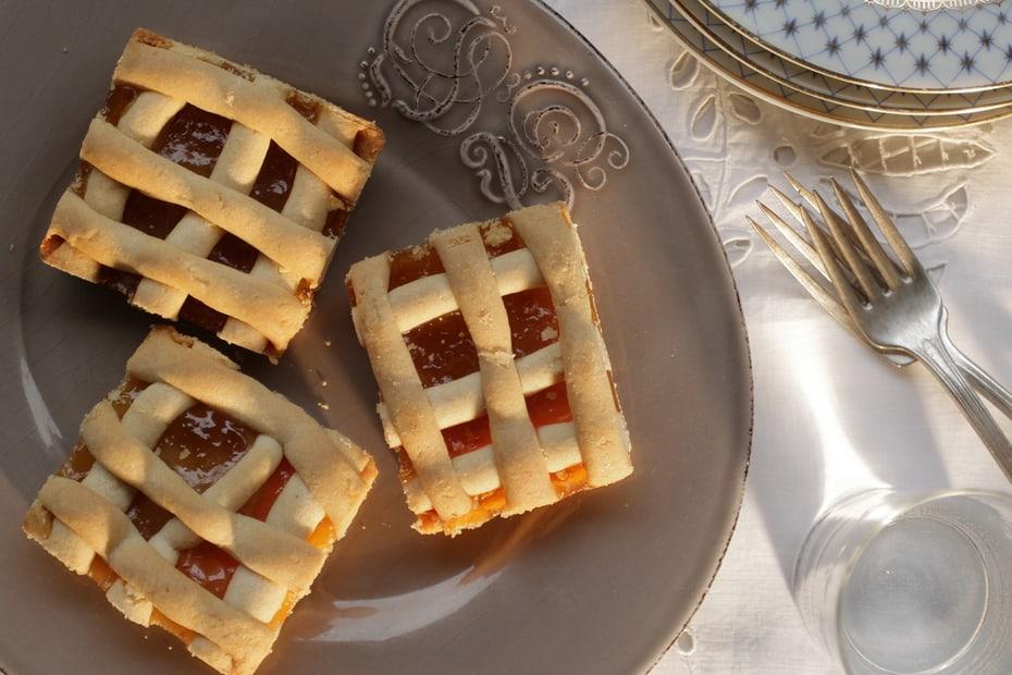 Greek Jam Lattice Top Tart Pasta Flora Greek Food Greek Cooking Greek Recipes By Diane Kochilas