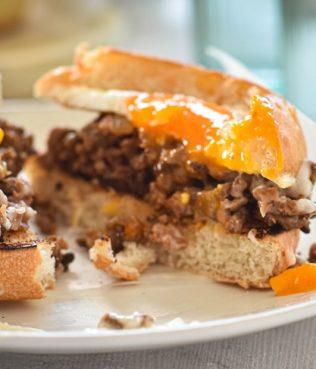 Egg in a Hole Pastitsio Sandwich