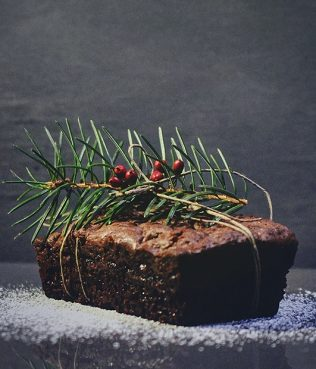 Chocolate – Olive Oil Fruit Cake