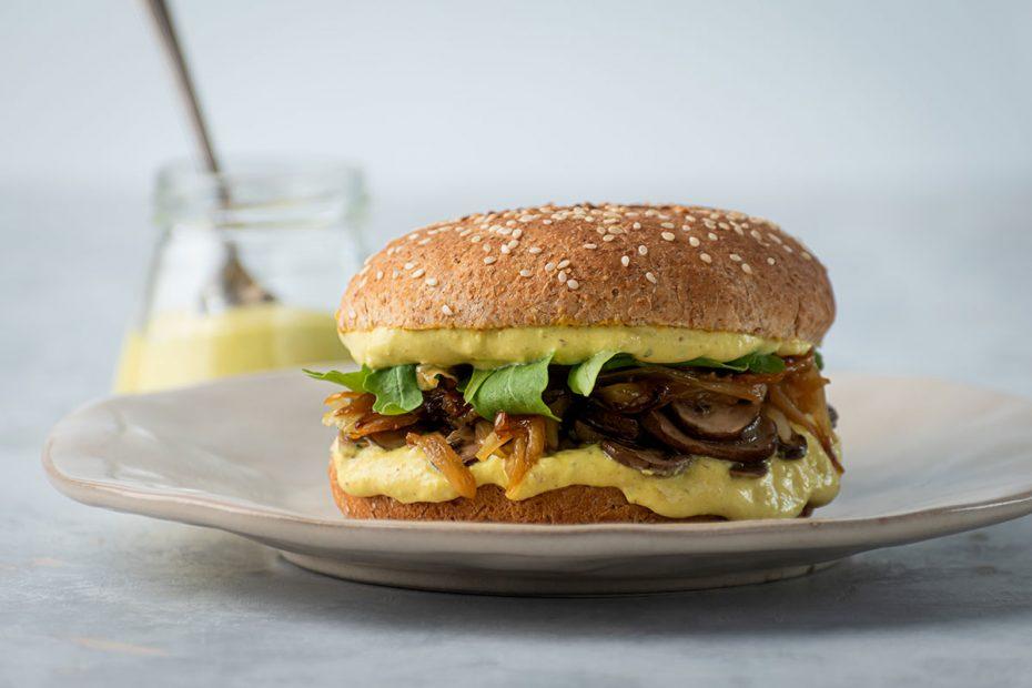 Mushroom Caramelized Onion Sandwich-1
