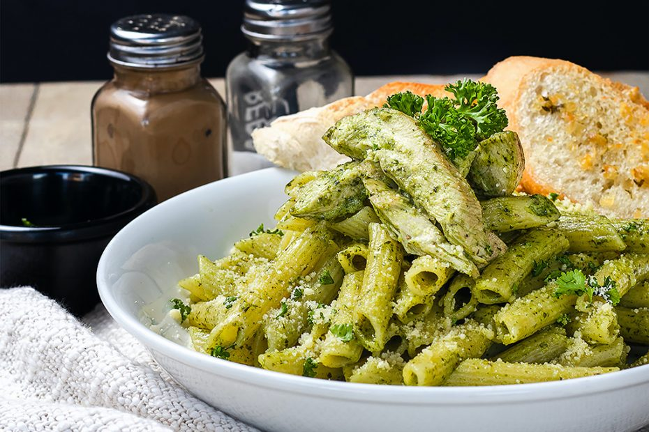 pistachio pesto with greens